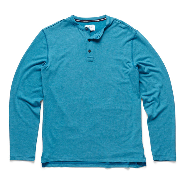 HENLEYS - L/S Classic Henley - Turkish Heather