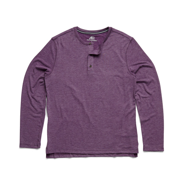 HENLEYS - L/S Classic Henley - Wineberry