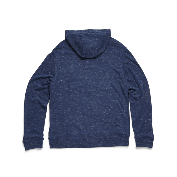 HENLEYS - L/S Henley Hoodie Sweater - Navy Heather