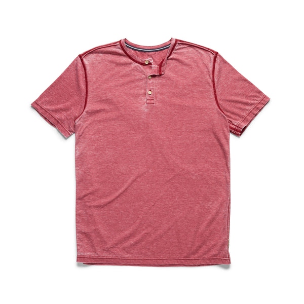 HENLEYS - S/S Burnout Henley - Scooter