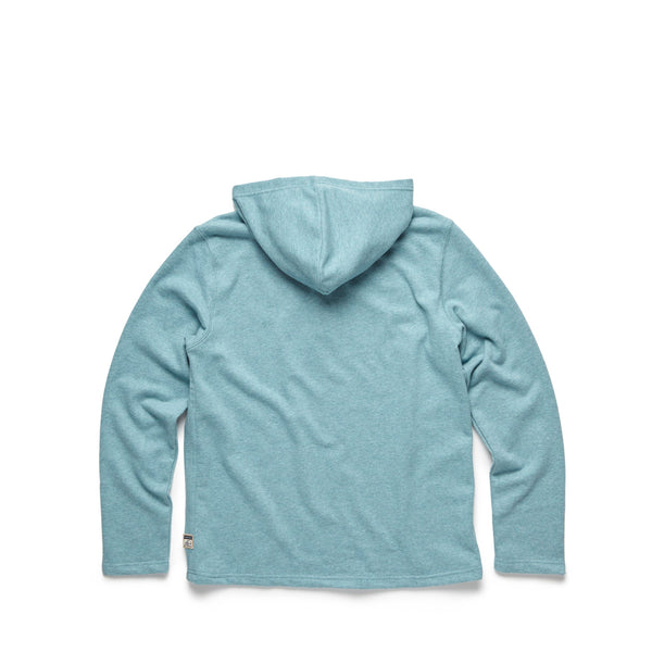 HENLEYS - Two Tone Fleece Terry Henley - Silver Pine Heather