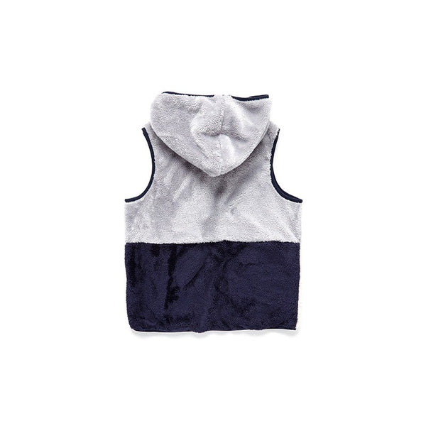 Colorblock Sherpa Hoodie Vest - Surfside Supply Co.  - 2