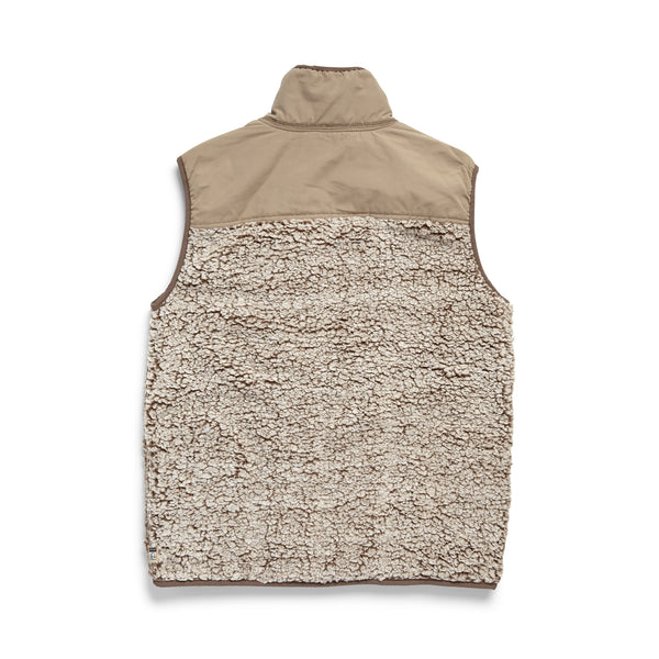 OUTERWEAR - Frosted Fleece Vest - Chestnut