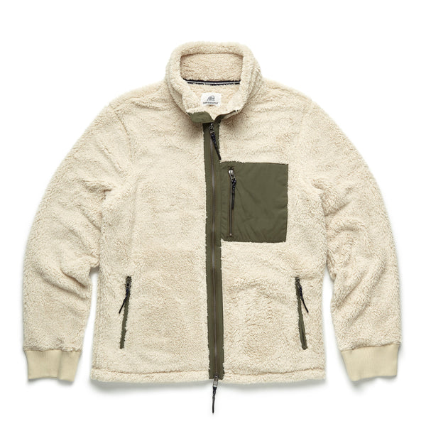 OUTERWEAR - Fuzzy Sherpa Jacket - Natural