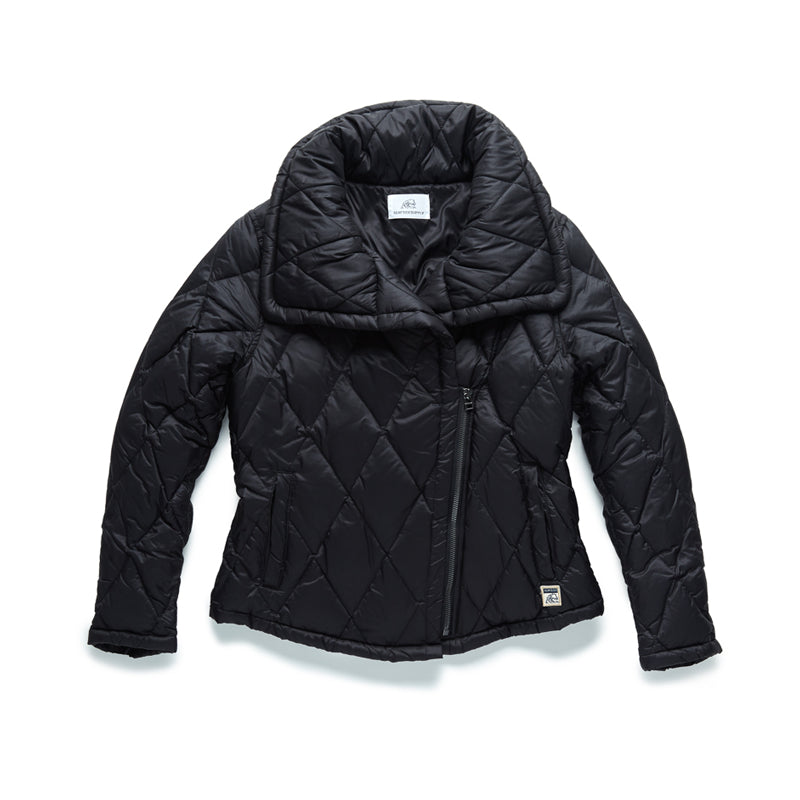 Nylon Asymmetrical Quilted Jacket - Surfside Supply Co.  - 1