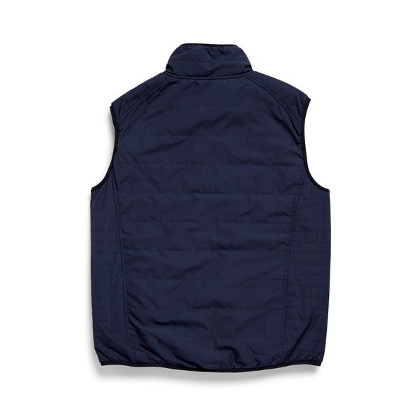 OUTERWEAR - Quilted Sherpa Lined Vest - Navy Blazer