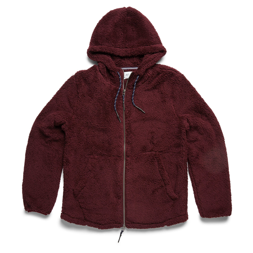 OUTERWEAR - Sherpa Fleece Full Zip Hoodie - Fig