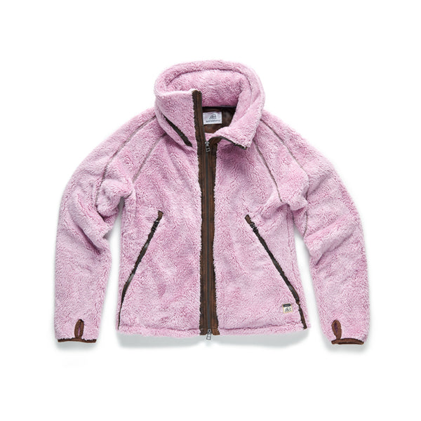 Sherpa Fleece Full Zip Jacket - Mauve Mist - Surfside Supply Co.  - 1