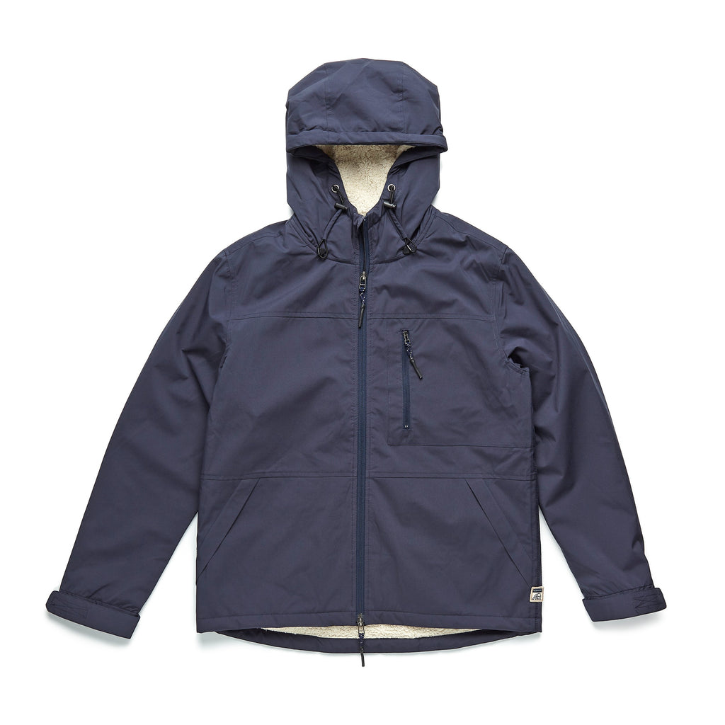 OUTERWEAR - Sherpa Lined Hooded Coat - Navy Blazer