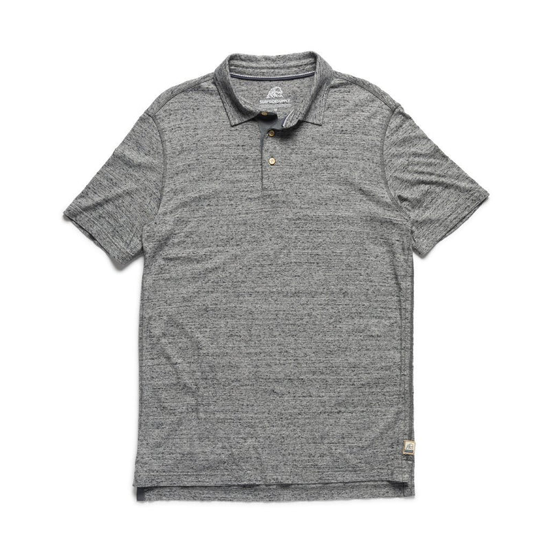 S/S Classic Heathered Polo - Speckled Grey