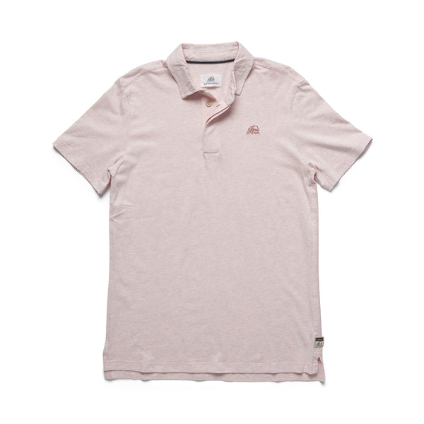 POLOS - S/S Heathered Logo Polo - Pink