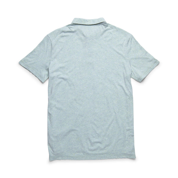 POLOS - S/S Heathered Polo - Basil Heather