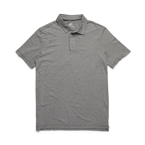 POLOS - S/S Heathered Polo - Heather Grey