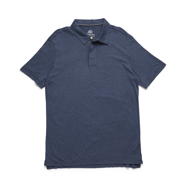 POLOS - S/S Heathered Polo - Indigo Blue Heather