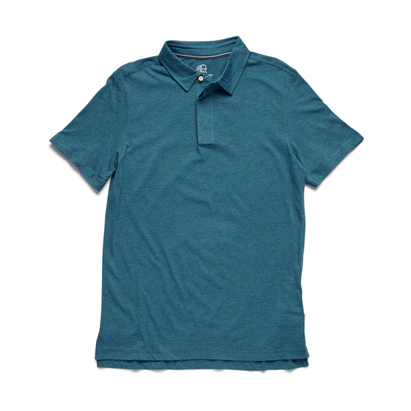 POLOS - S/S Heathered Polo - Seaport Heather
