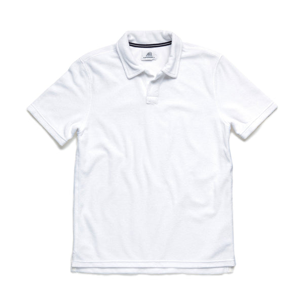 POLOS - S/S Saltwater Terry Polo - Bright White