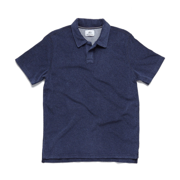 POLOS - S/S Saltwater Terry Polo - Navy Heather