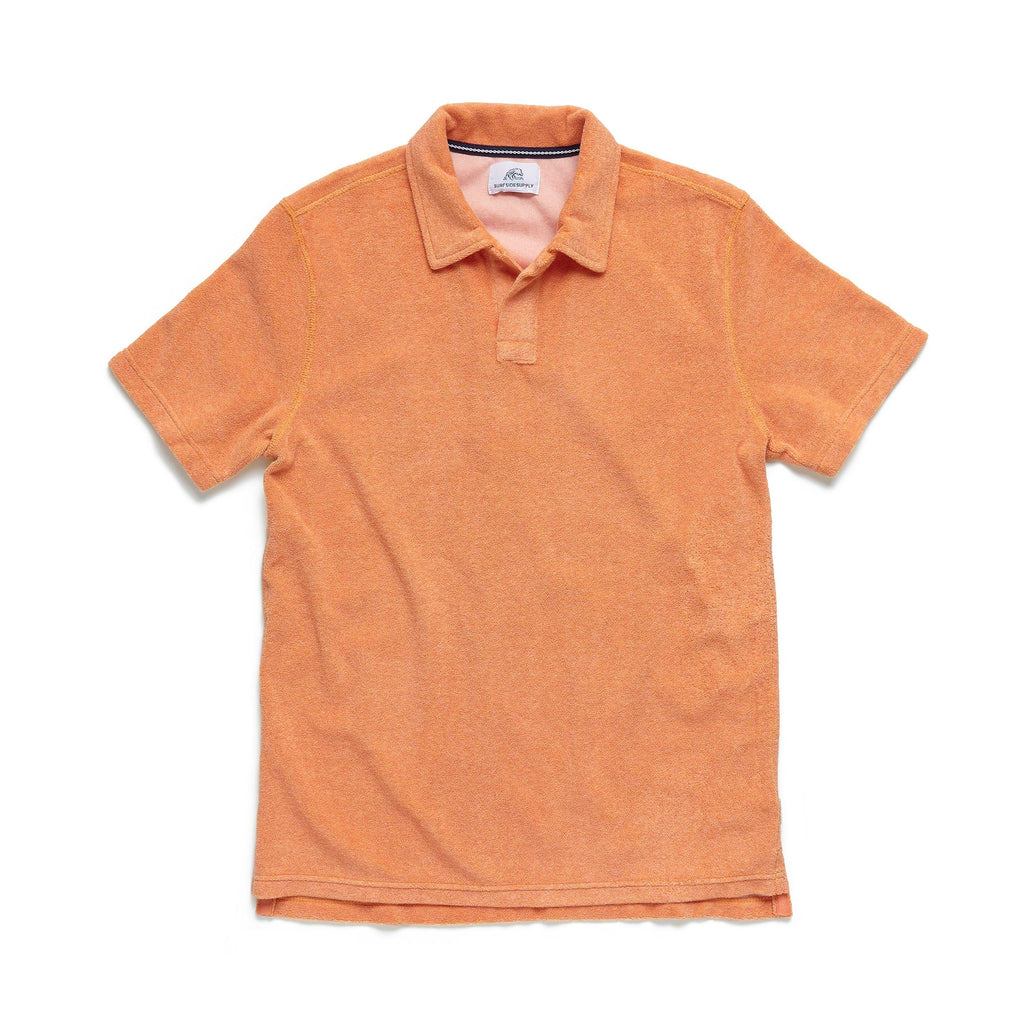 POLOS - S/S Saltwater Terry Polo - Orange Heather