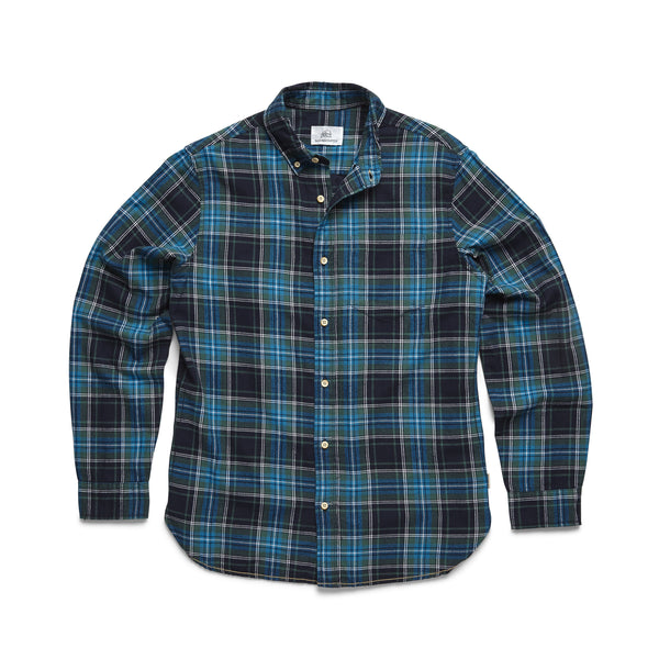 L/S Brushed Cotton Plaid Shirt - Bistro Green