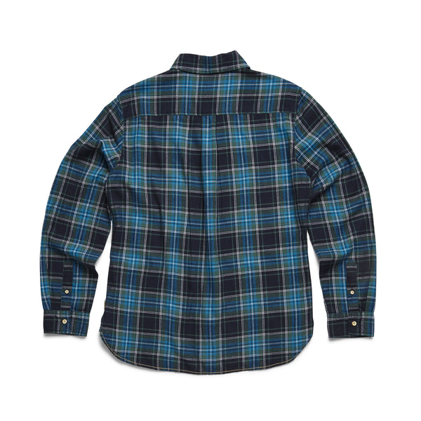 SHIRTS - L/S Brushed Cotton Plaid Shirt - Bistro Green