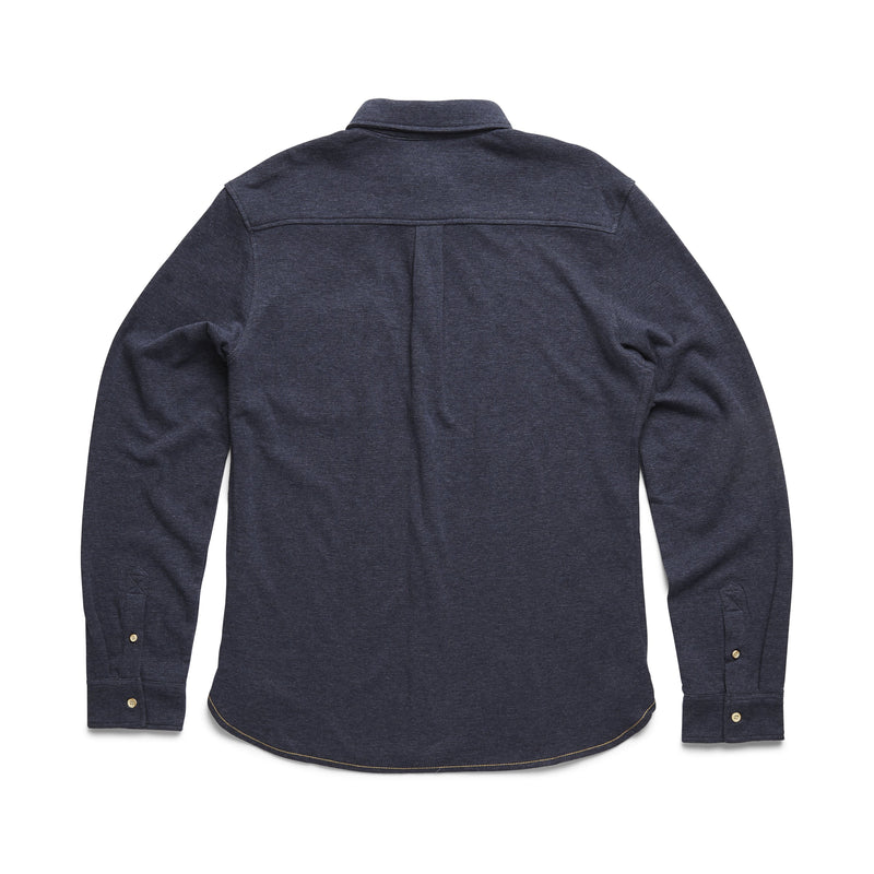 L/S Doubleface Knit Shirt - Navy Heather