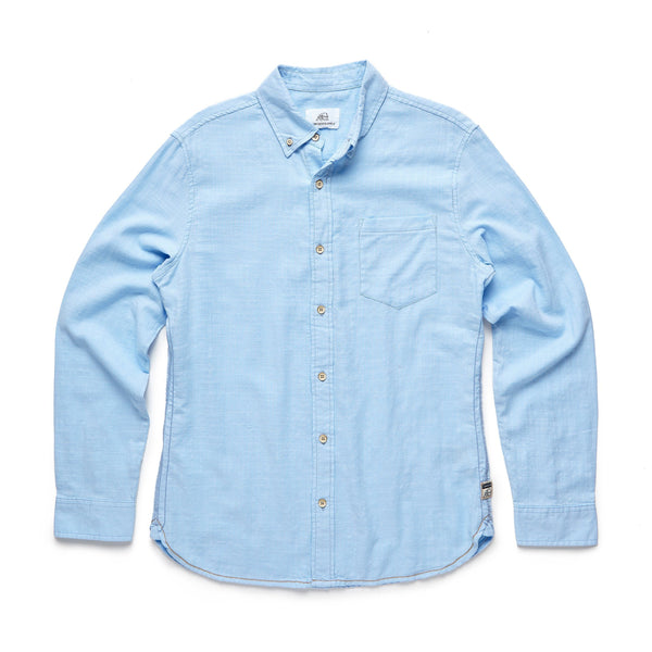 SHIRTS - L/S Garment Dyed Shirt - Blue Bell