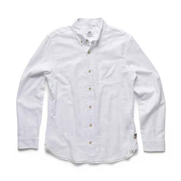 SHIRTS - L/S Garment Dyed Shirt - White