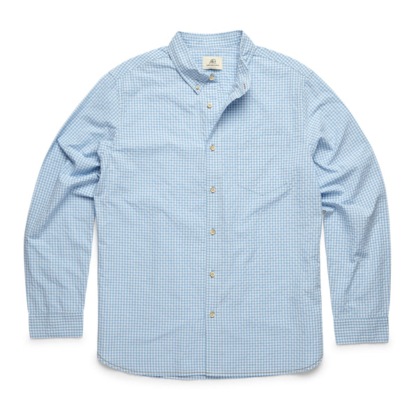 L/S Gingham Check Shirt - Ethereal Blue