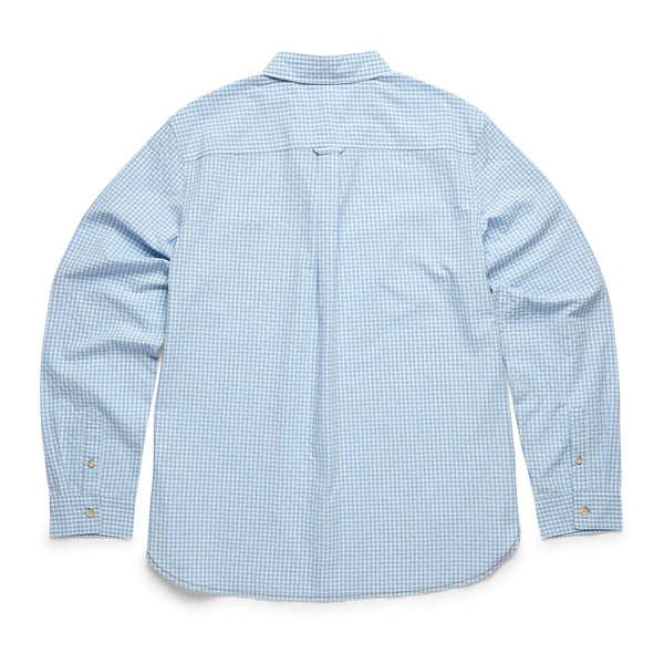 SHIRTS - L/S Gingham Check Shirt - Ethereal Blue
