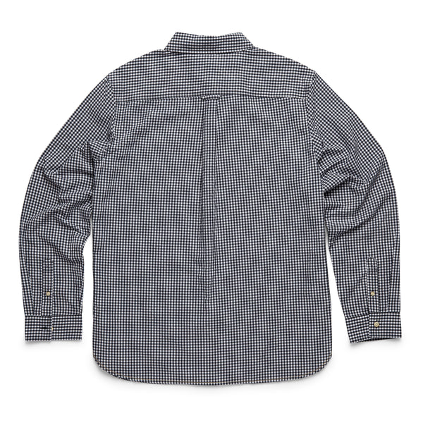 SHIRTS - L/S Gingham Check Shirt - Navy Blazer