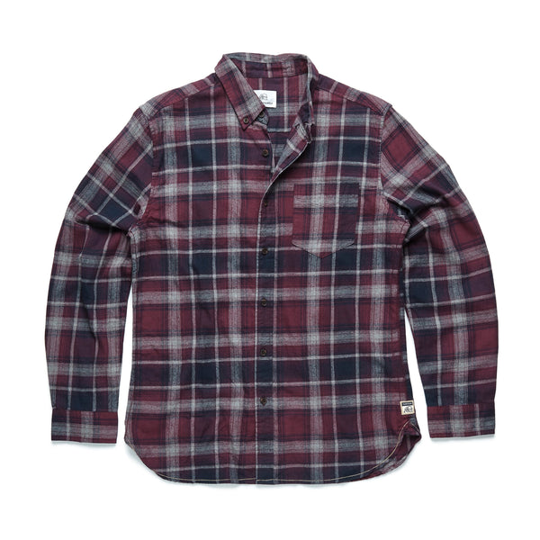 SHIRTS - L/S Multi Plaid Flannel Shirt - Fig