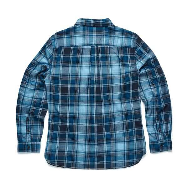 SHIRTS - L/S Multi Plaid Flannel Shirt - Riviera Blue