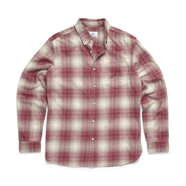 SHIRTS - L/S Ombre Soft Plaid Shirt - Malaga Pink
