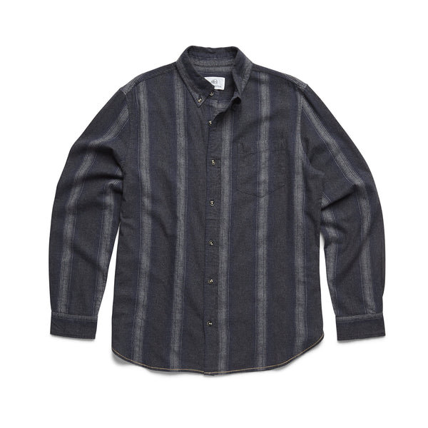 SHIRTS - L/S Ombre Striped Shirt - Navy Heather