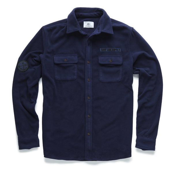 SHIRTS - L/S Plush Utility Patch Shirt - Navy