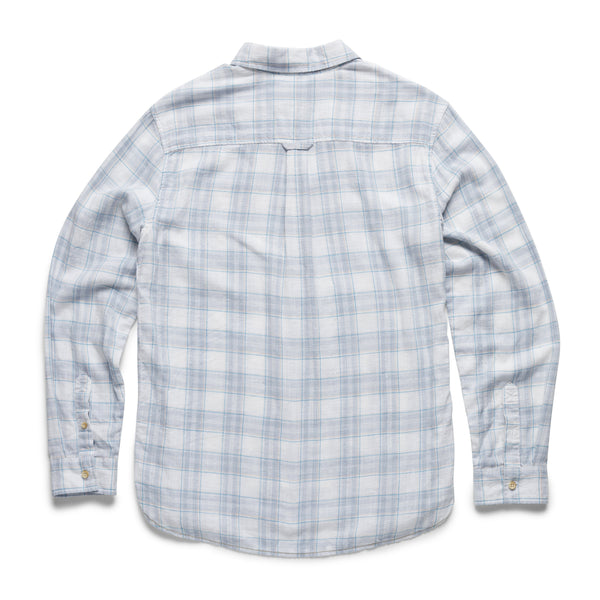 SHIRTS - L/S Slub Cotton Plaid Shirt - White