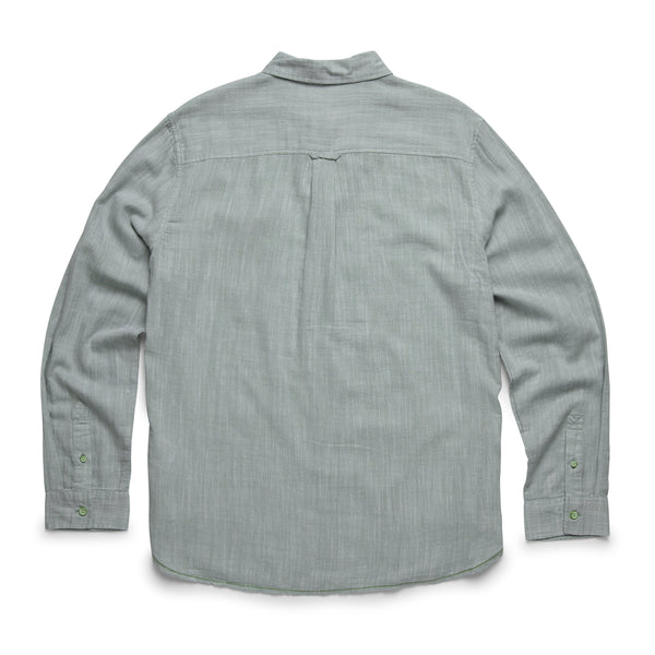 SHIRTS - L/S Slub Cotton Shirt - Basil