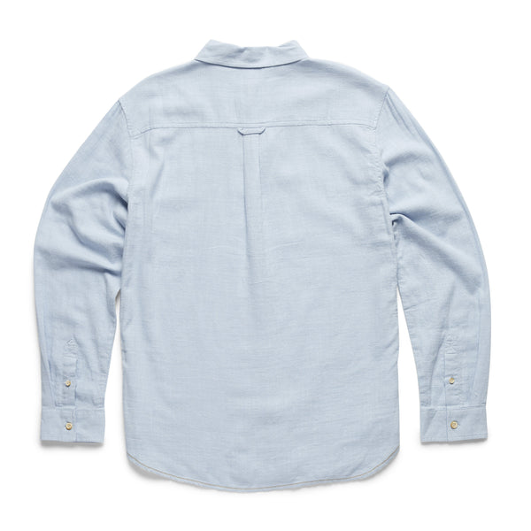 SHIRTS - L/S Slub Cotton Shirt - Kentucky Blue