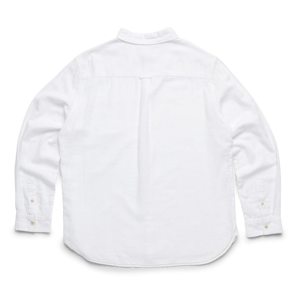 SHIRTS - L/S Slub Cotton Shirt - White