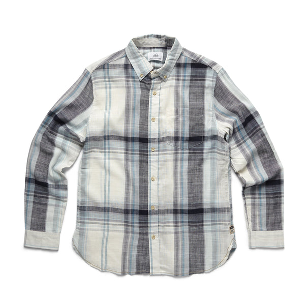 SHIRTS - L/S Slub Plaid Shirt - Off White