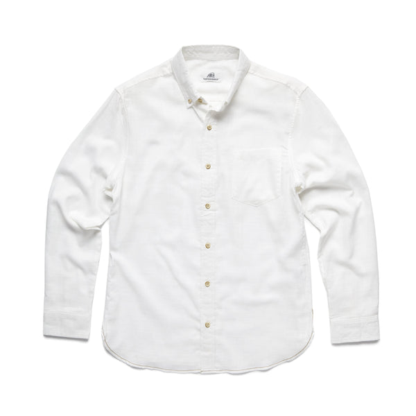 SHIRTS - L/S Solid Slub Shirt - White