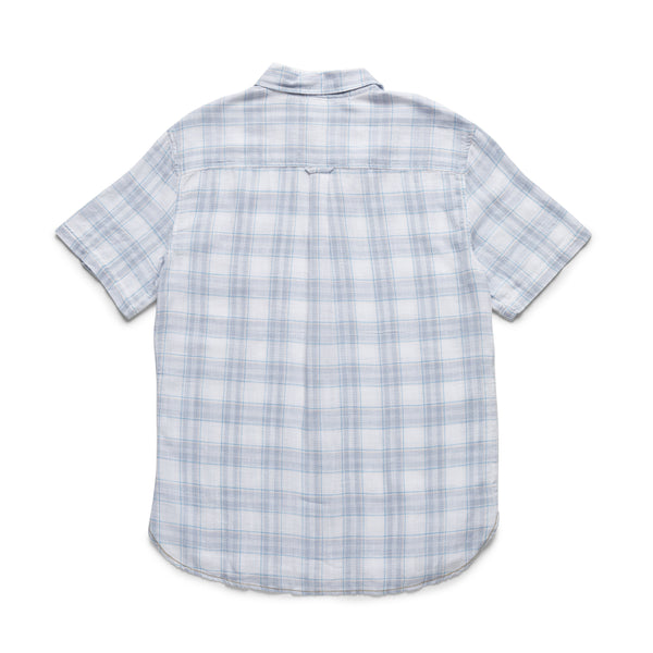 SHIRTS - S/S Cotton Plaid Slub Shirt - White