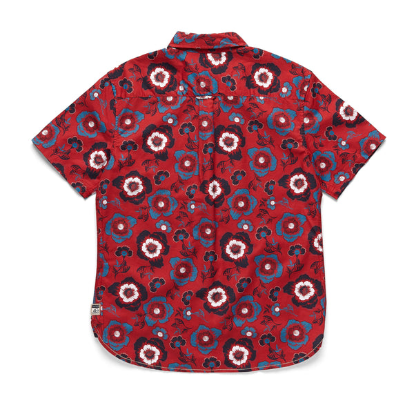 SHIRTS - S/S Floral Print Shirt - Red