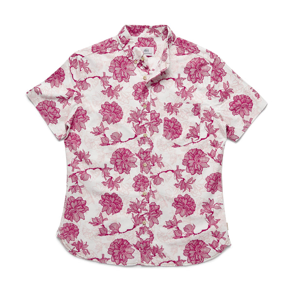 SHIRTS - S/S Floral Shirt - Bright White
