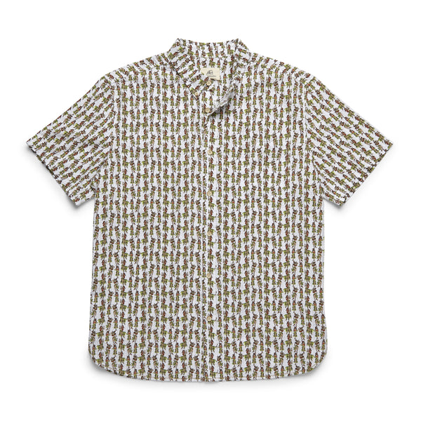 SHIRTS - S/S Hula Girl Seersucker Shirt - Bright White