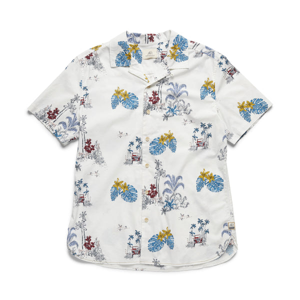 SHIRTS - S/S Jeep Print Shirt - White