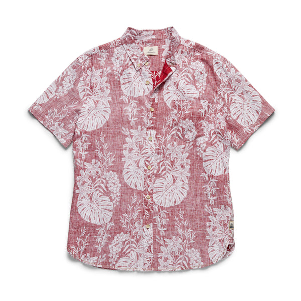 S/S Linen Print Floral Shirt - Scooter
