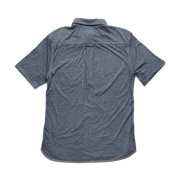 SHIRTS - S/S Snow Washed Knit Shirt - Charcoal Heather