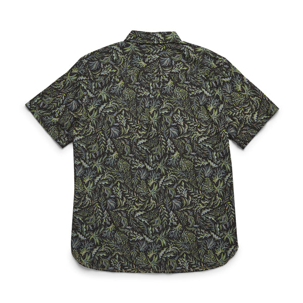SHIRTS - S/S Tropical Print Shirt - Pirate Black