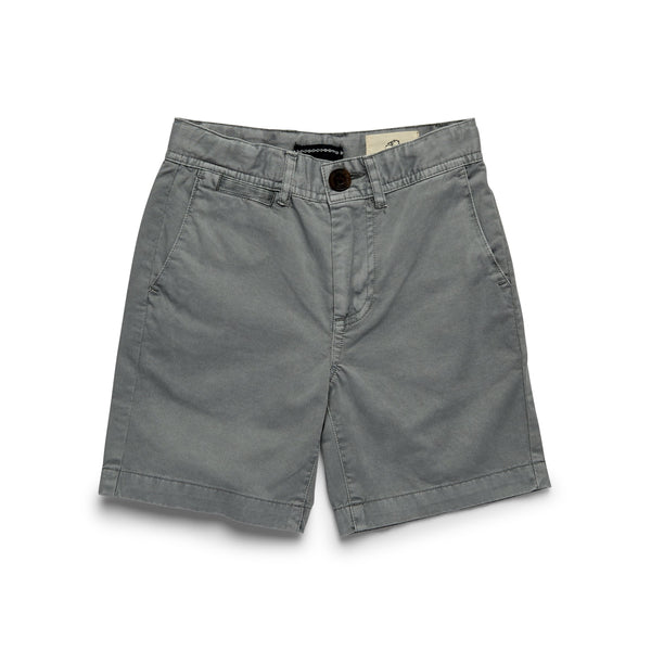 Boys Flat Front Short - Mirage Grey